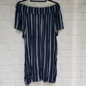 Indigo Soul Peasant Neckline Tunic Dress NEW!